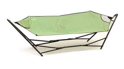 Medium image of the portable hammock  es in a handy carry bag that holds both the hammock as well as the frame so you can take it with you to the beach